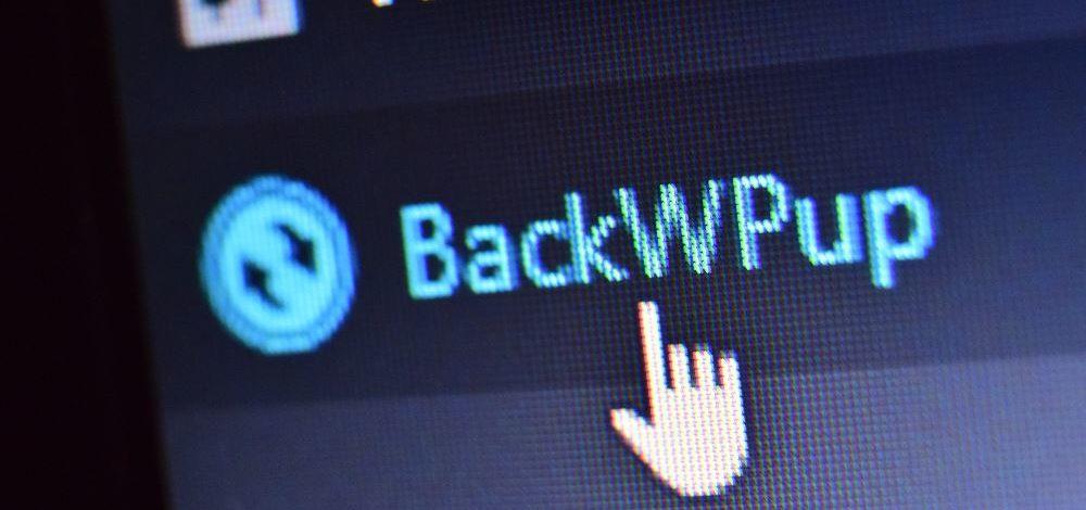 BackWPup plugin v menu v administraci