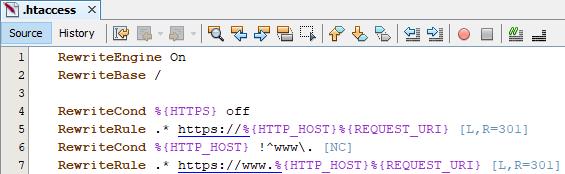 .htaccess přesměrování na HTTPS zabezpečenou verzi